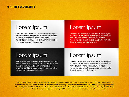 Election Presentation Template, Slide 11, 02676, Presentation Templates — PoweredTemplate.com