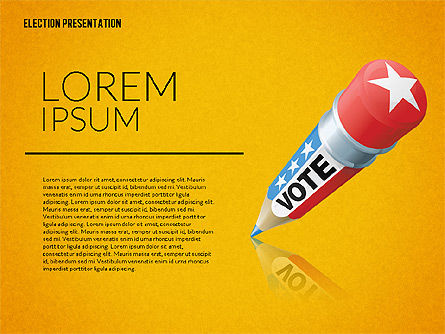 Election Presentation Template, Slide 13, 02676, Presentation Templates — PoweredTemplate.com