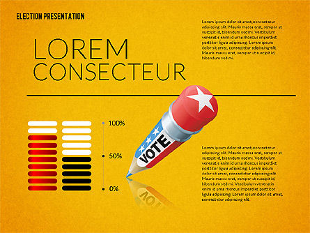 Election Presentation Template, Slide 15, 02676, Presentation Templates — PoweredTemplate.com
