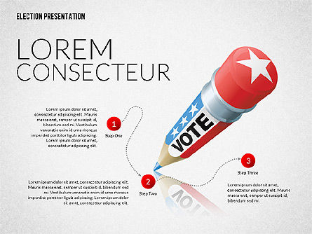 Election Presentation Template, Slide 2, 02676, Presentation Templates — PoweredTemplate.com