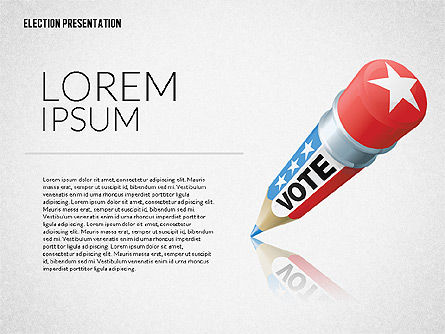 Election Presentation Template, Slide 5, 02676, Presentation Templates — PoweredTemplate.com
