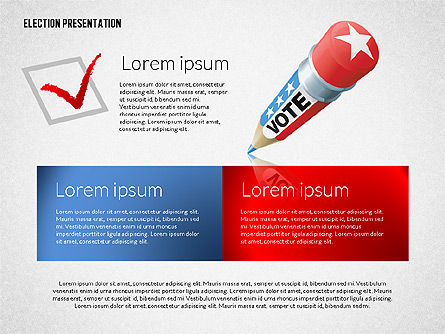 Election Presentation Template, Slide 6, 02676, Presentation Templates — PoweredTemplate.com