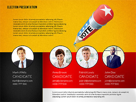 Election Presentation Template, Slide 9, 02676, Presentation Templates — PoweredTemplate.com