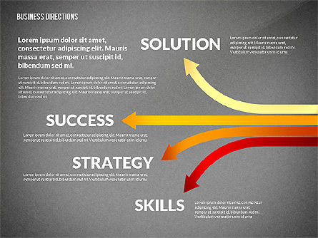 Business Directions Toolbox, Slide 13, 02678, Process Diagrams — PoweredTemplate.com