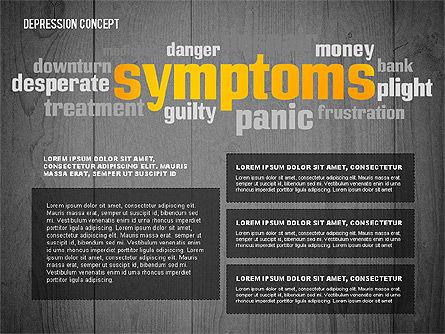 Psychology Symptoms Word Cloud Presentation Template, Slide 13, 02680, Medical Diagrams and Charts — PoweredTemplate.com