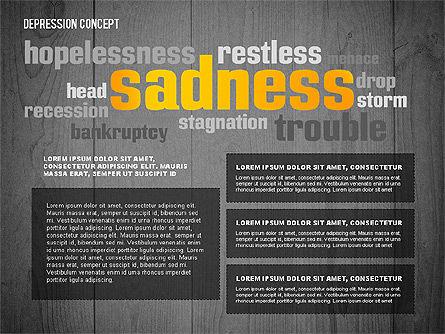 Psychology Symptoms Word Cloud Presentation Template, Slide 14, 02680, Medical Diagrams and Charts — PoweredTemplate.com