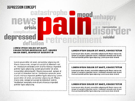 Psychology Symptoms Word Cloud Presentation Template Slide 4