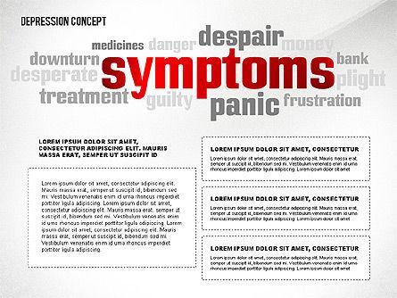 Psychology Symptoms Word Cloud Presentation Template, Slide 5, 02680, Medical Diagrams and Charts — PoweredTemplate.com