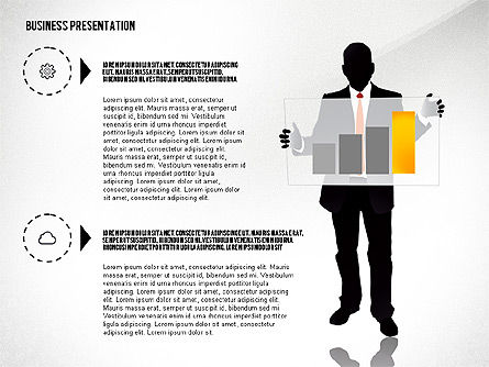 Business Presentation with Silhouettes, Slide 7, 02681, Silhouettes — PoweredTemplate.com