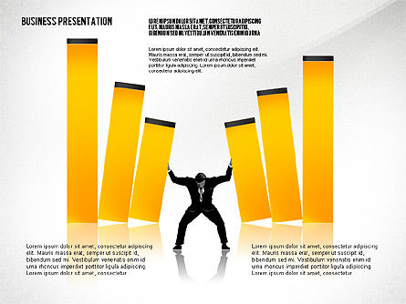 Business Presentation with Silhouettes, Slide 8, 02681, Silhouettes — PoweredTemplate.com