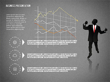 Business Presentation with Silhouettes, Slide 9, 02681, Silhouettes — PoweredTemplate.com