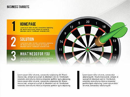 Options with Target Darts, Slide 2, 02684, Stage Diagrams — PoweredTemplate.com
