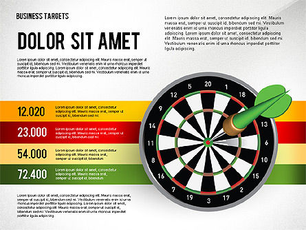 Options with Target Darts, Slide 4, 02684, Stage Diagrams — PoweredTemplate.com