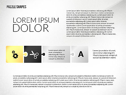 Puzzle Shapes with Icons, Slide 2, 02685, Puzzle Diagrams — PoweredTemplate.com