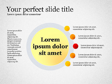 Presentation Concept with Plain Shapes, Slide 2, 02692, Presentation Templates — PoweredTemplate.com