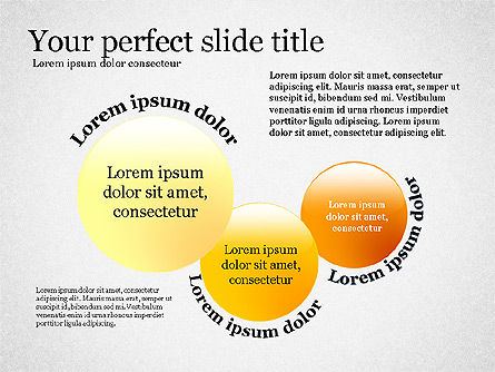 Presentation Concept with Plain Shapes, Slide 3, 02692, Presentation Templates — PoweredTemplate.com