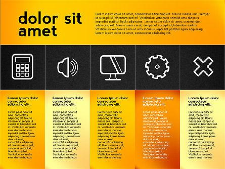 Flat Presentation with Icons, Slide 11, 02694, Presentation Templates — PoweredTemplate.com