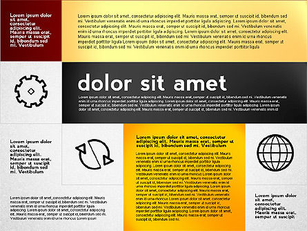 Flat Presentation with Icons, Slide 2, 02694, Presentation Templates — PoweredTemplate.com
