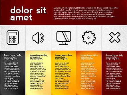 Flat Presentation with Icons, Slide 3, 02694, Presentation Templates — PoweredTemplate.com