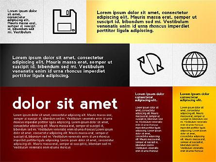 Flat Presentation with Icons, Slide 8, 02694, Presentation Templates — PoweredTemplate.com