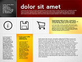 Presentation Templates: Présentation plate avec des icônes #02694