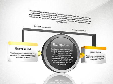 3D Process Diagram Toolbox, Slide 2, 02695, Process Diagrams — PoweredTemplate.com