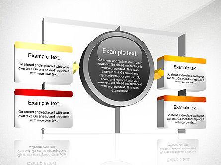 3D Process Diagram Toolbox, Slide 3, 02695, Process Diagrams — PoweredTemplate.com