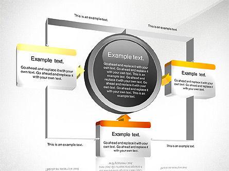 3D Process Diagram Toolbox, Slide 4, 02695, Process Diagrams — PoweredTemplate.com