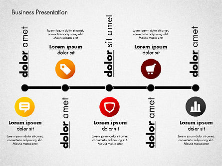 Modern Presentation Template with Data Driven Charts, Slide 2, 02696, Presentation Templates — PoweredTemplate.com