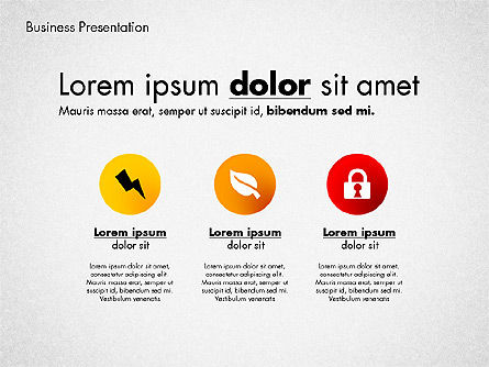 Modern Presentation Template with Data Driven Charts, Slide 3, 02696, Presentation Templates — PoweredTemplate.com