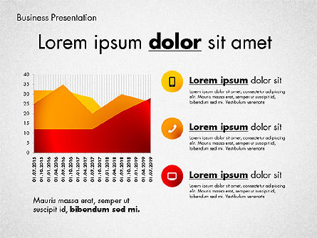 Modern Presentation Template with Data Driven Charts, Slide 4, 02696, Presentation Templates — PoweredTemplate.com