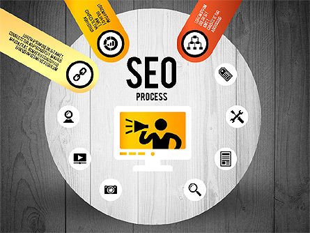 SEO Process Stages, Slide 13, 02699, Stage Diagrams — PoweredTemplate.com