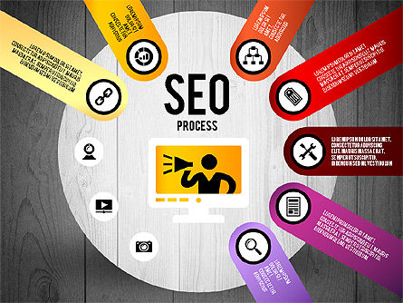 SEO Process Stages, Slide 17, 02699, Stage Diagrams — PoweredTemplate.com