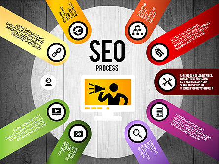SEO Process Stages, Slide 19, 02699, Stage Diagrams — PoweredTemplate.com