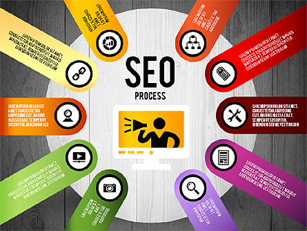 SEO Process Stages, Slide 20, 02699, Stage Diagrams — PoweredTemplate.com