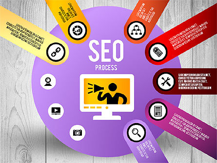 SEO Process Stages, Slide 7, 02699, Stage Diagrams — PoweredTemplate.com
