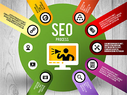 SEO Process Stages, Slide 8, 02699, Stage Diagrams — PoweredTemplate.com