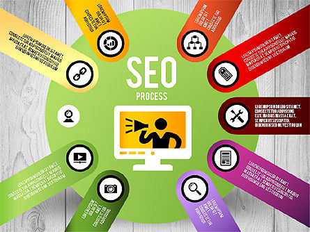 SEO Process Stages, Slide 9, 02699, Stage Diagrams — PoweredTemplate.com