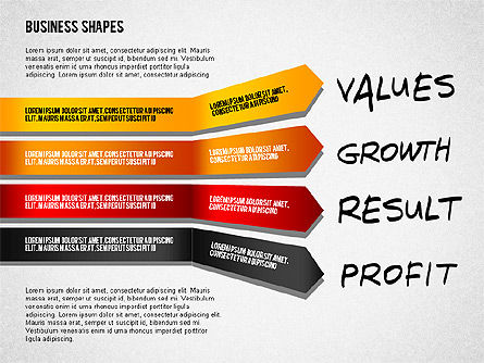 Values Profit Chain Presentation Concept, 02700, Stage Diagrams — PoweredTemplate.com