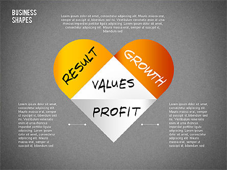 Values Profit Chain Presentation Concept, Slide 12, 02700, Stage Diagrams — PoweredTemplate.com