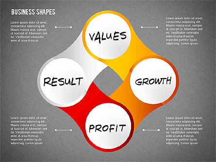 Values Profit Chain Presentation Concept, Slide 13, 02700, Stage Diagrams — PoweredTemplate.com