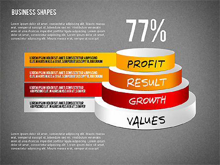 Values Profit Chain Presentation Concept, Slide 15, 02700, Stage Diagrams — PoweredTemplate.com