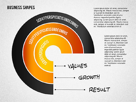 Values Profit Chain Presentation Concept, Slide 3, 02700, Stage Diagrams — PoweredTemplate.com