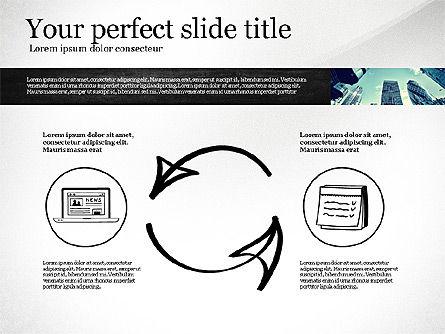 Monochrome Presentation Concept, 02702, Presentation Templates — PoweredTemplate.com