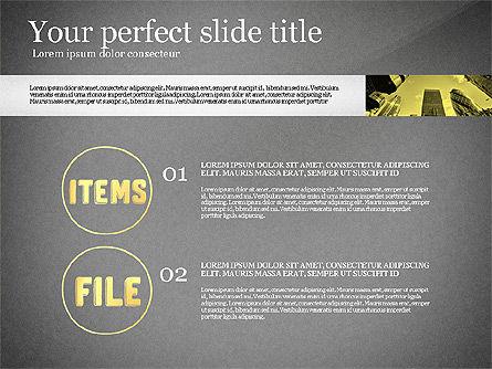 Monochrome Presentation Concept, Slide 10, 02702, Presentation Templates — PoweredTemplate.com