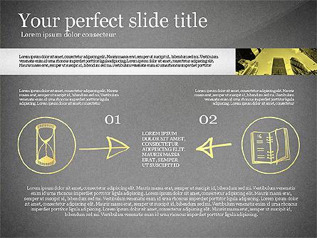 Monochrome Presentation Concept, Slide 11, 02702, Presentation Templates — PoweredTemplate.com