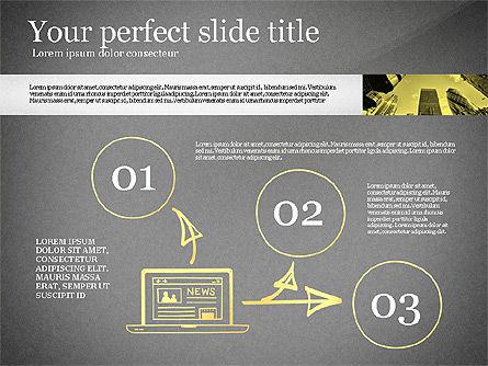 Monochrome Presentation Concept, Slide 13, 02702, Presentation Templates — PoweredTemplate.com