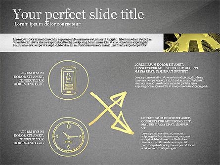 Monochrome Presentation Concept, Slide 14, 02702, Presentation Templates — PoweredTemplate.com
