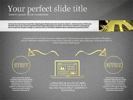 Monochrome Presentation Concept, Slide 15, 02702, Presentation Templates — PoweredTemplate.com