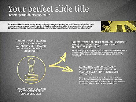 Monochrome Presentation Concept, Slide 16, 02702, Presentation Templates — PoweredTemplate.com